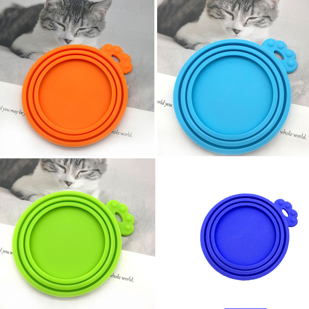 Silicone Canned Lid Sealed Feeders Reusable Puppy Dog Cat Food Can Top Lid Universal Pet Food Can Top Health Pet Daily Supplies