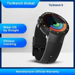 TicWatch S, черные умные часы , Bluetooth, умные часы с GPS, Android и iOS, совместимые с Google Wear OS IP67, водонепроницаемые, оригинал Mobvoi