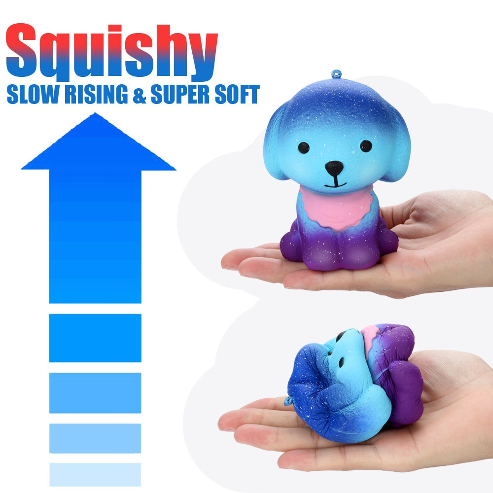 2018 hot sale fruit slices soft scented stress relief toy sludge scented stress kids clay slime toys interesting toys gift bill Decompression Toys Adorable Squishies Galaxy Star Puppy Slow Rebound Rising Fruit Scented Stress Relief Abreact Toy Kids Gift 5*