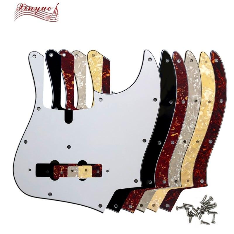 Pleroo pickguard qualidade personalizada para 11 furos parafusos z dal 5 cordas guitarra baixo jazz pickguard placa de risco