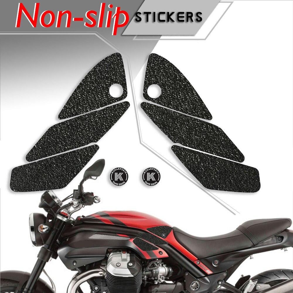 Almohadilla de depósito para motocicleta tanque agarre fricción protector antideslizante calcomanías etiqueta engomada impermeable de la rodilla almohadillas para MOTO GUZZI 13-17 GRISO 8V SE