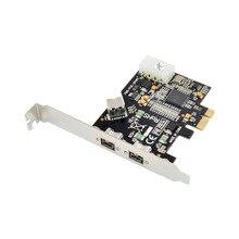 Combo carte contrôleur PCIE 1394b 1, 2x Ports Firewire 1394b, carte TI 1394