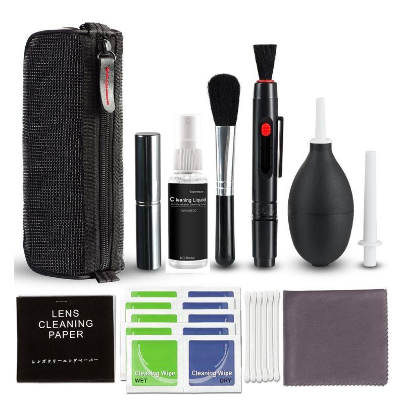 Kit de limpieza de cámaras DSLR, Kit profesional de limpieza de cámaras digitales, herramienta de limpieza de lentes con Estuche de transporte