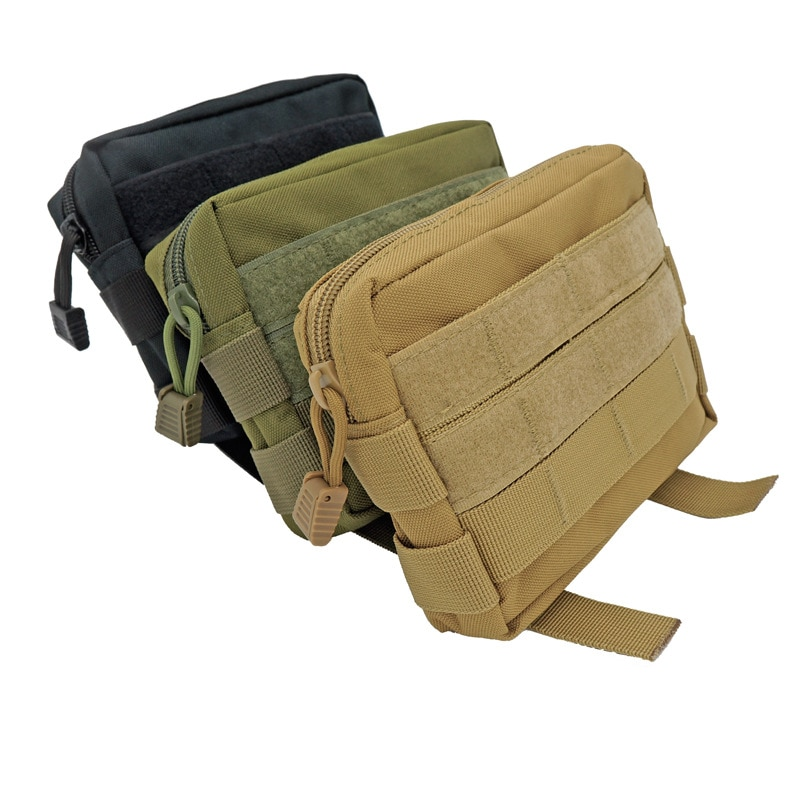 Accesorio de mochila de caza al aire libre bolsa Molle 600D actualización táctica bolsa de utilidad d-ring chaleco al aire libre riñonera multifunción
