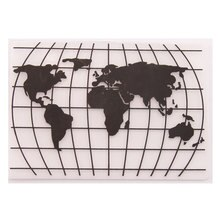 Dossier de gaufrage en plastique carte du monde Scrapbooking Photo Album carte bricolage modèle en plastique gaufrage moule