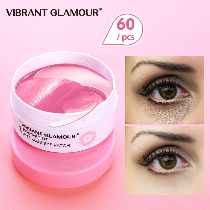 VIBRANT GLAMOUR Polypeptide Eye Mask Anti-Aging Remover Dark Circles Puffiness Fine lines Moisturizing Nourish Eye Care 60 pcs