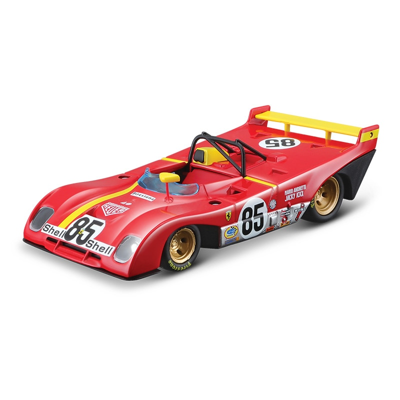 Bburago 1:43 Scale Ferrari 312P 1972 Alloy Luxury Vehicle Diecast Pull Back Cars Model Toy Collection Gift alloy model gift 1 50 scale scania a90 city wide transit bus vehicle diecast toy model for collection decoration