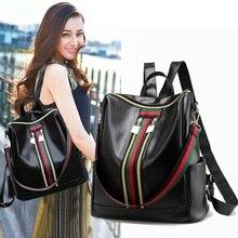 Women Backpack PU Shoulder Bag For Women Teenage Girls Multi-Function Small School Bag For Female Mochila Mujer Femininas