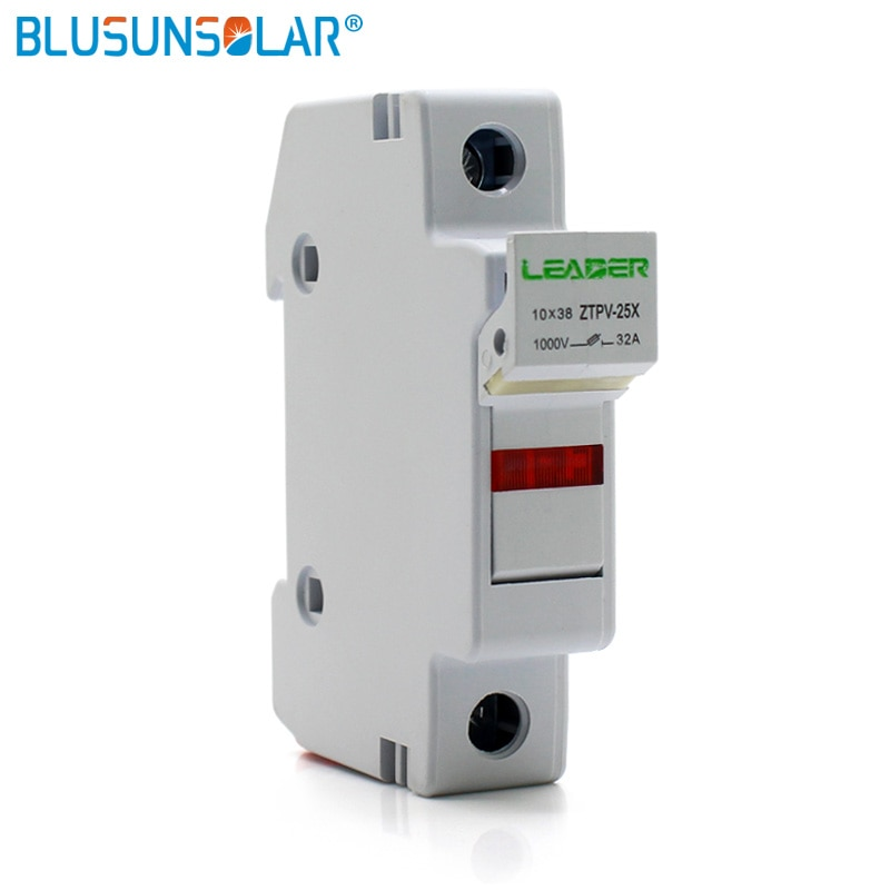 5sets/lot Solar PV Fuse Holders suitable for 10*38mm PV fuse Fuse Link with LED Indicator light for solar system protection