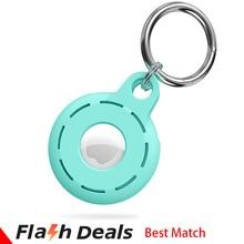 Luxury Protective Case For Airtag Cover Original Liquid Silicone Hangable Keychain Locator Tracker C