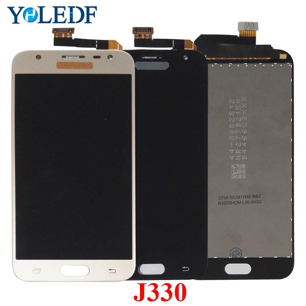 Pantalla LCD Amoled Original para SAMSUNG Galaxy J3 Pro 2017 J330 J330F J330G J330FN Pantalla de repuesto digitalizador táctil