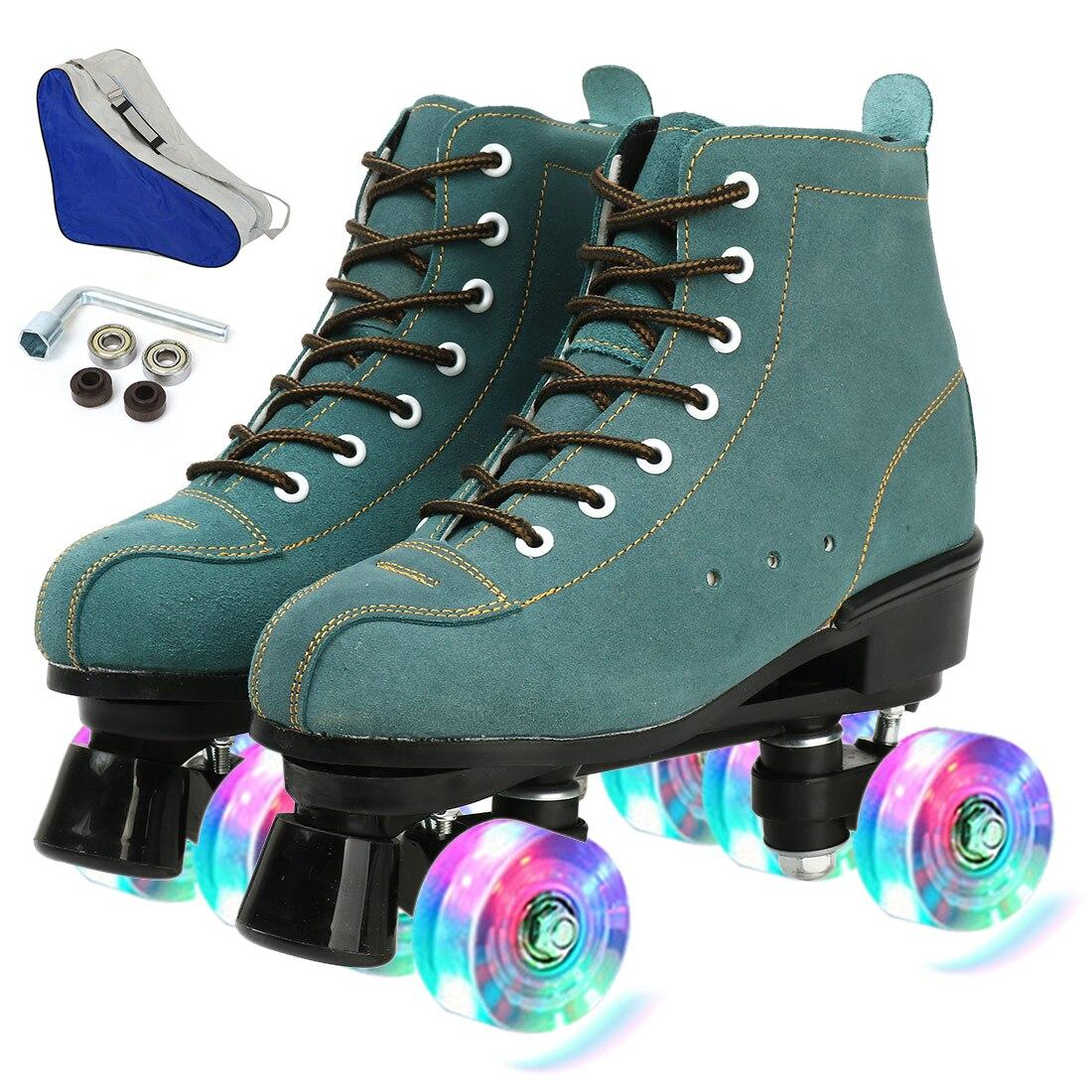 الفتيات أوروبا حجم وامض النساء بولي Leather الجلود الكبار الاطفال رباعية زلاجات دوارة أحذية التزلج المهنية انزلاق أحذية رياضية 4 عجلات