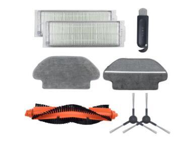 XIAOMI robot  STYTJ02YM  accessories include:2pcs side brush,2pcs filter ,2pcs mopping ,1pcs mainbrush
