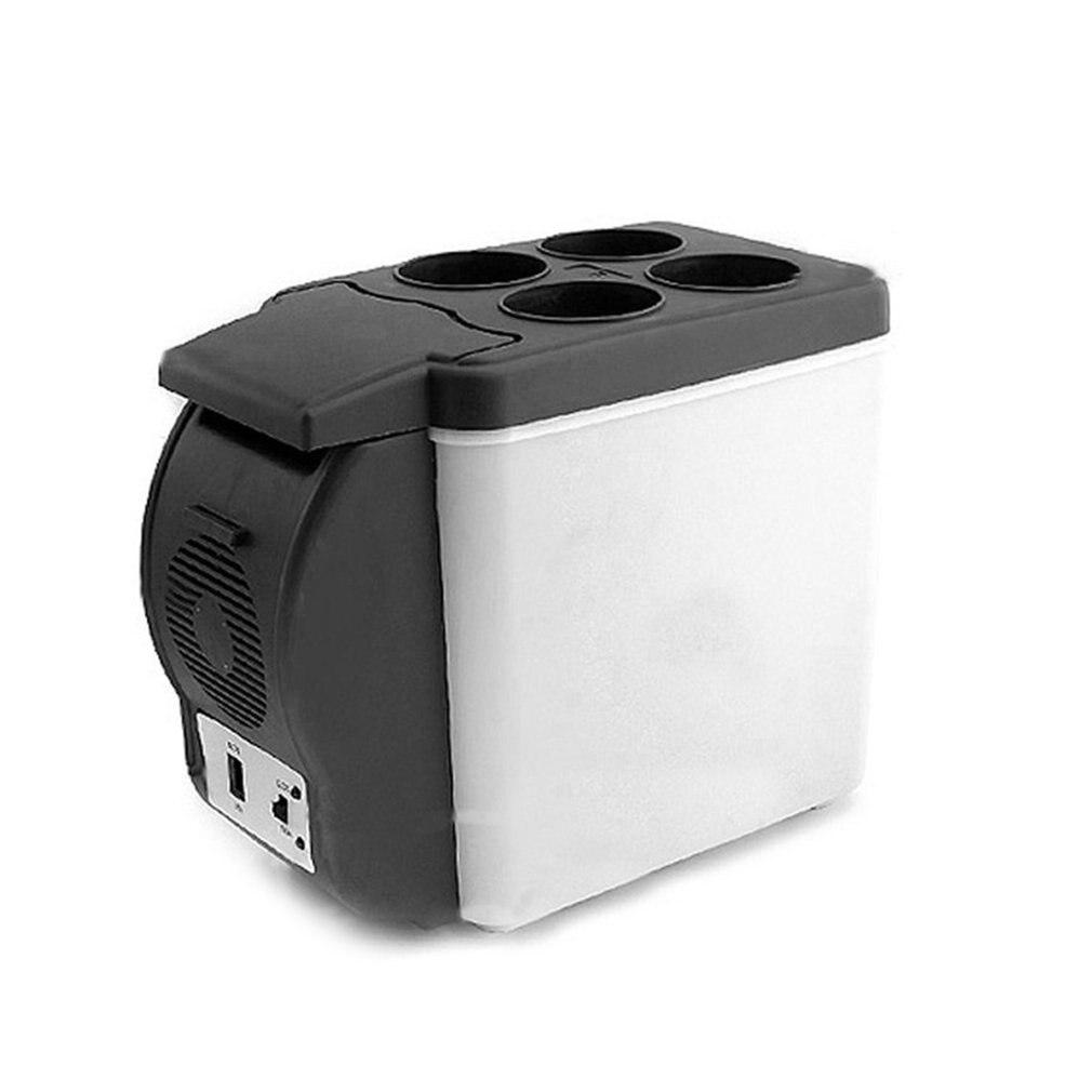6l refrigerator freezer heater 12v mini car fridge cooler 12V 6L Mini Car Refrigerator Dual Use Beverage Cooler Warmer ABS Portable Outdoor Travel Freezer Universal Refrigerator