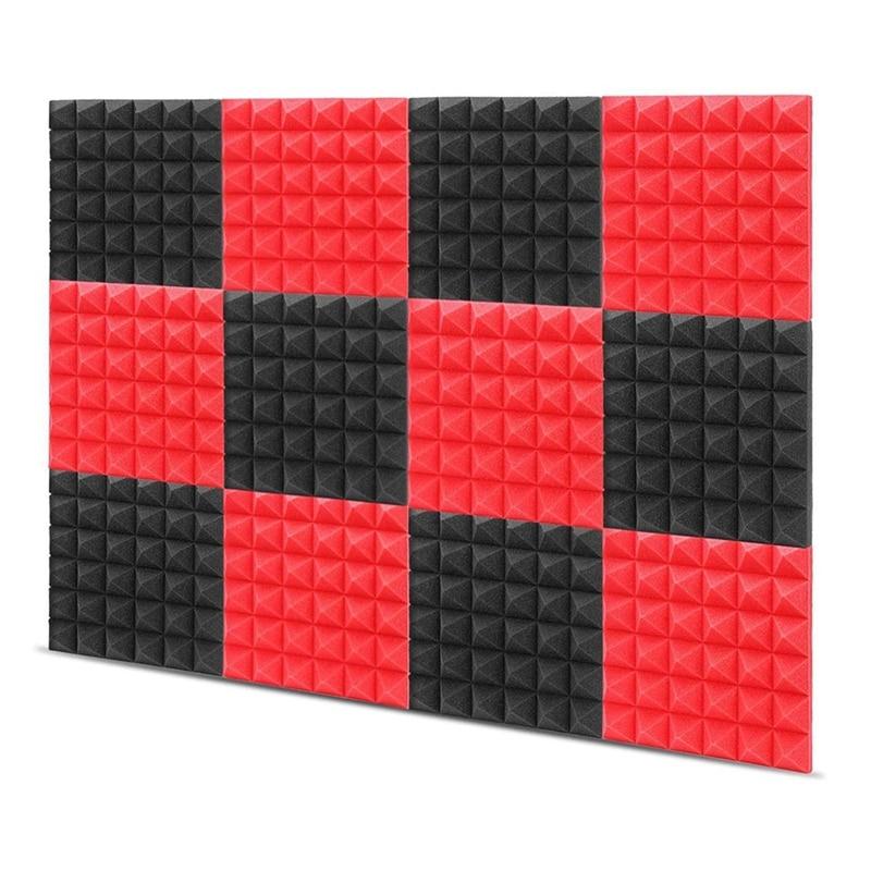 Акустическая пенопластовая доска, студийный Поролоновый пирамидный кирпич, звукопоглощающий и амортизирующий Поролоновый лечебный стено...