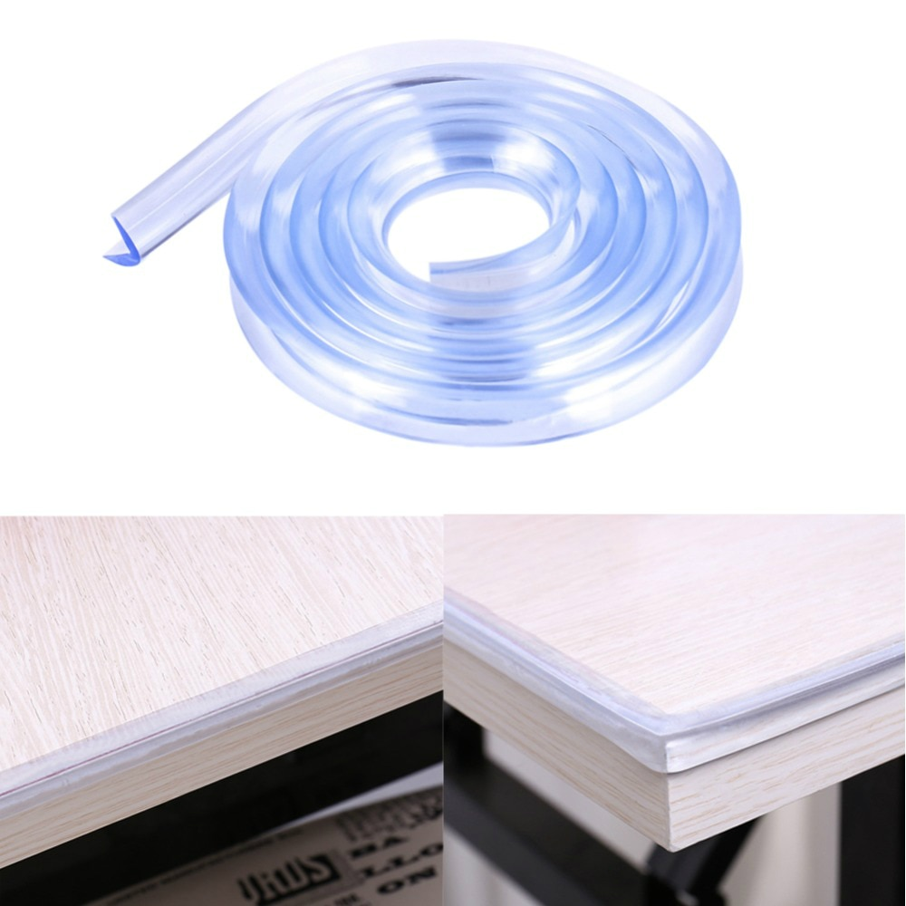 Glass Table Edge Furniture Guard Strip Horror Crash Bar Corner Foam Bumper Collision 1M Clear Protection Baby Safety Products children protection table guard strip baby safety products glass edge protection furniture bumper corner cushion
