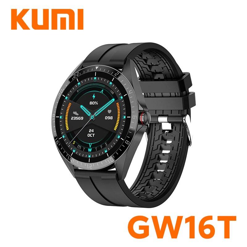 Reloj inteligente Xiaomi KUMI GW16T, reloj inteligente deportivo con control del ritmo cardíaco y del sueño, IP67, resistente al agua, iOS, Android y versión Global para Xiaomi Xiomi Xaomi