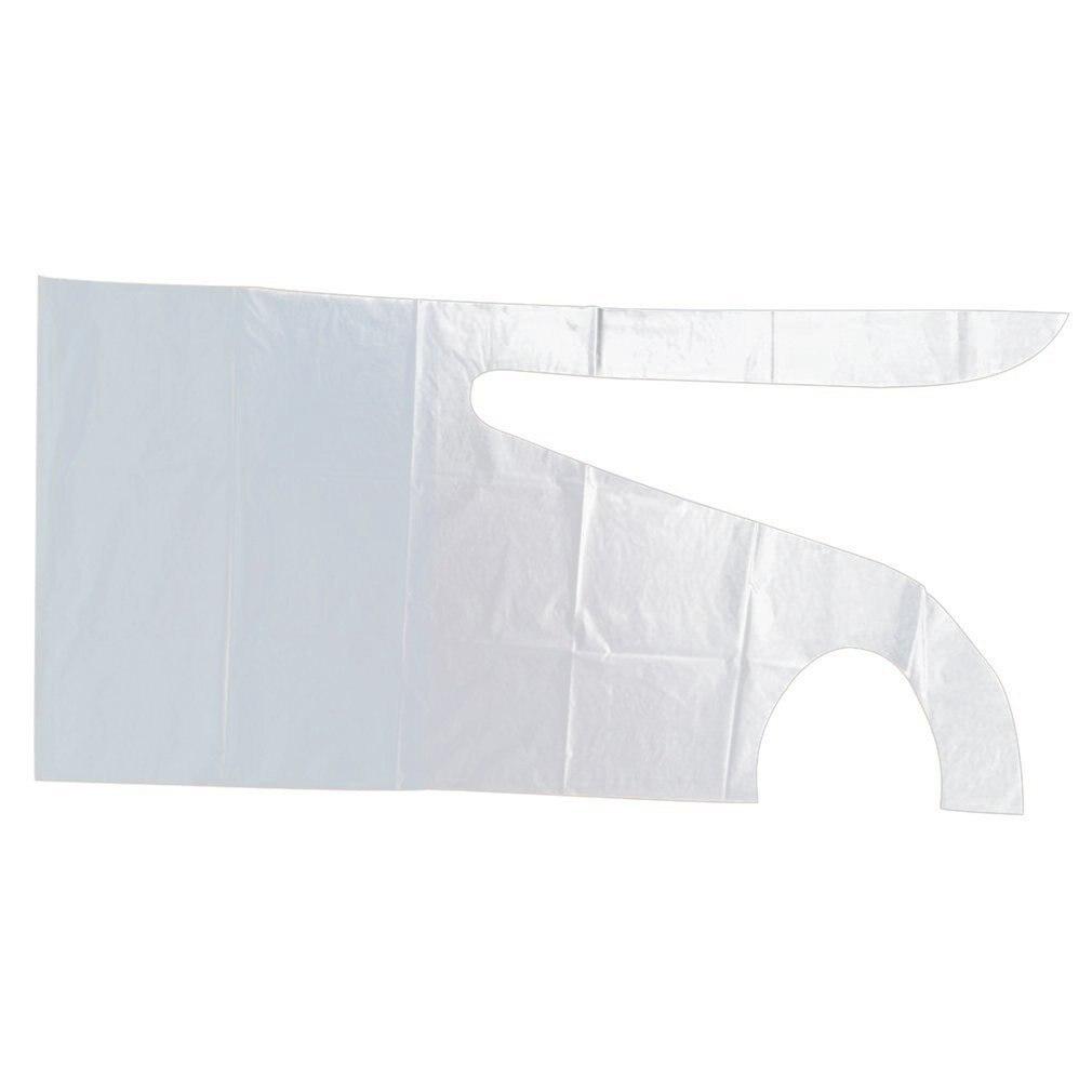 Bloco liso e rolo de aventais plásticos descartáveis de alta densidade de polietileno avental plástico cozinha casa engrossar aventais