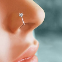 Hommes femmes faux cristal nez Piercing bijoux de corps nez à fleurs cerceau narine nez anneau minuscule fleur hélice Cartilage Tragus anneau