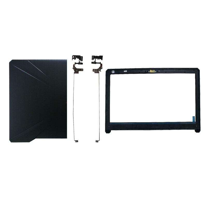 Capa para notebook para asus fx80 fx80g fx80gd fx504 fx504g fx504gd fx504ge lcd parte superior traseira capa sem tela lin/lcd moldura frontal/dobradiças
