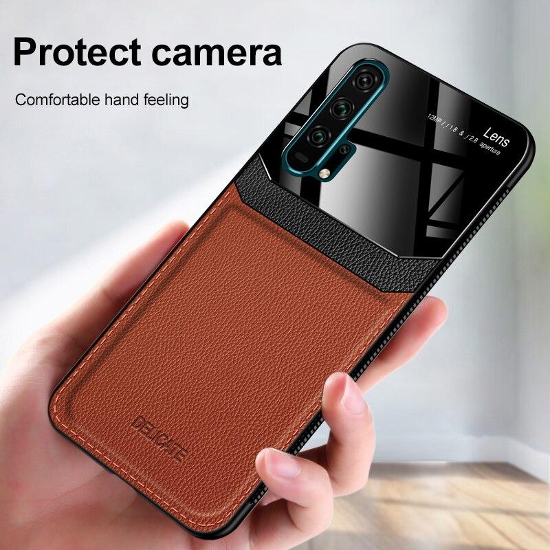 Funda protectora de cuero PU para Huawei P40 Pro Nova 7i 5t 3i Y9S Honor 20 30S 9X Mate 30 P30 Pro plexiglás negocios