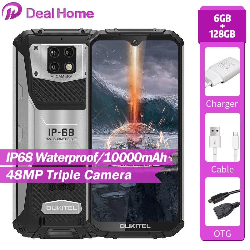 OUKITEL WP6 6,3 FHD + IP68 versión Global teléfono móvil 6GB 128GB 10000mAh batería Octa Core 48MP Triple Cámara Smartphone robusto