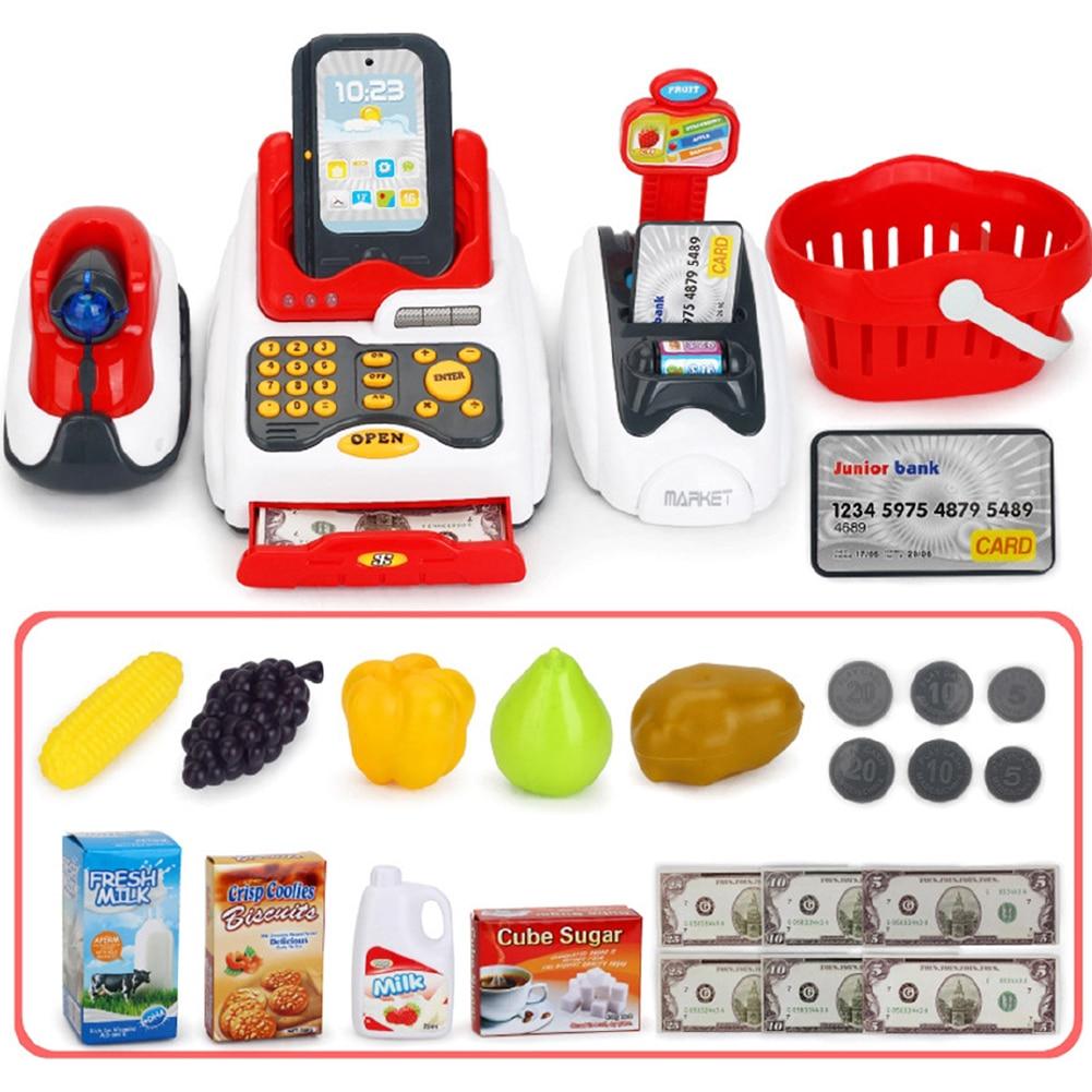 Caja Registradora de juguete educativo para niños, caja registradora de juguete, modelo simulado de supermercado, juego de rol divertido