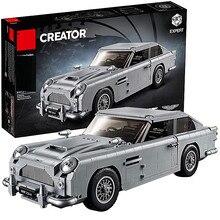 Em estoque 007 james bond técnica carro série 1295 pçs 10262 blocos de construção tijolos lepining criador crianças modelo presentes brinquedos