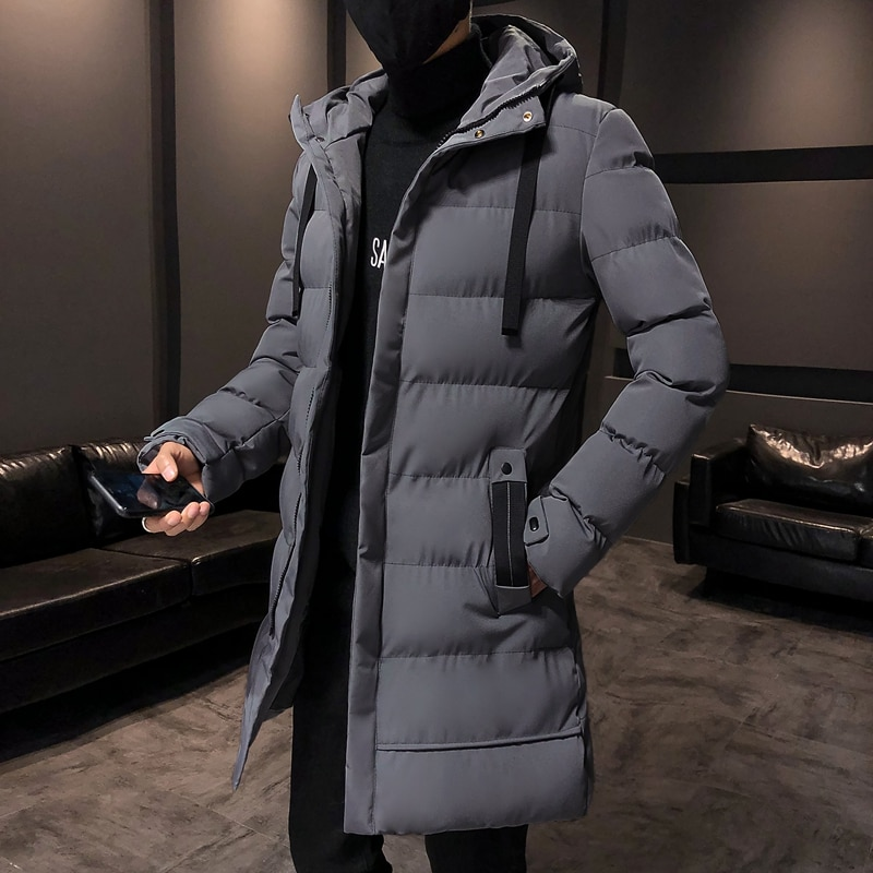 2021 brand clothing men winter parka long section 2 colors new warm thicken jacket outwear windproof coat hooded plus size s 4xl 2021 Brand clothing Men Winter Parka Long Section 2 colors New Warm Thicken Jacket Outwear Windproof Coat Hooded Plus Size S-4XL