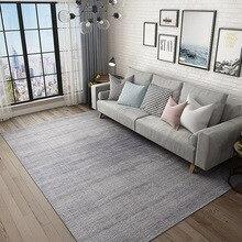 Katı gri büyük halı oturma odası Modern İskandinav düz yatak odası başucu alan kilim siyah mavi beyaz pembe tam halı anti kayma