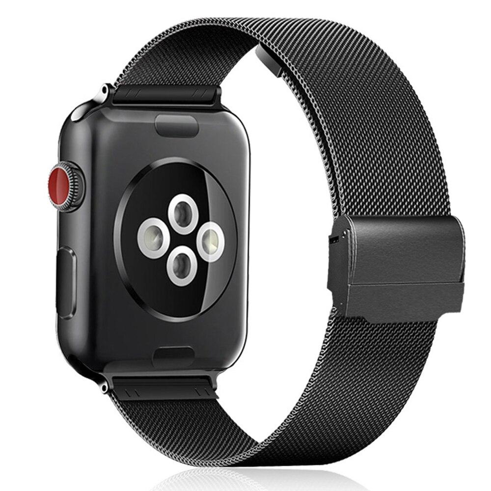 Milanese loop pulseira de aço inoxidável banda para apple assistir série 1 2 3 42mm 38mm pulseira de metal para iwatch 4 5 40mm 44mm