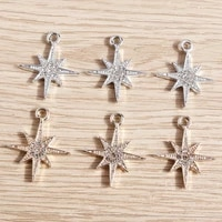 10pcs 2125mm crystal star charms for jewelry making alloy gold silver silver charms pendant fit diy necklaces earrings keychain