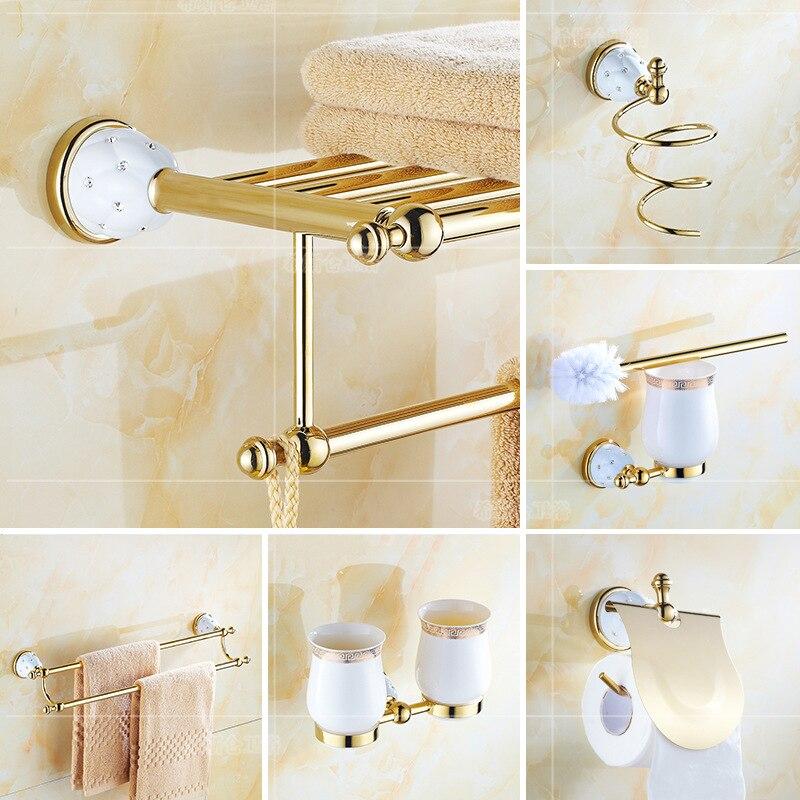 Juego de Accesorios de baño con incrustaciones de diamante, soporte para cepillo...