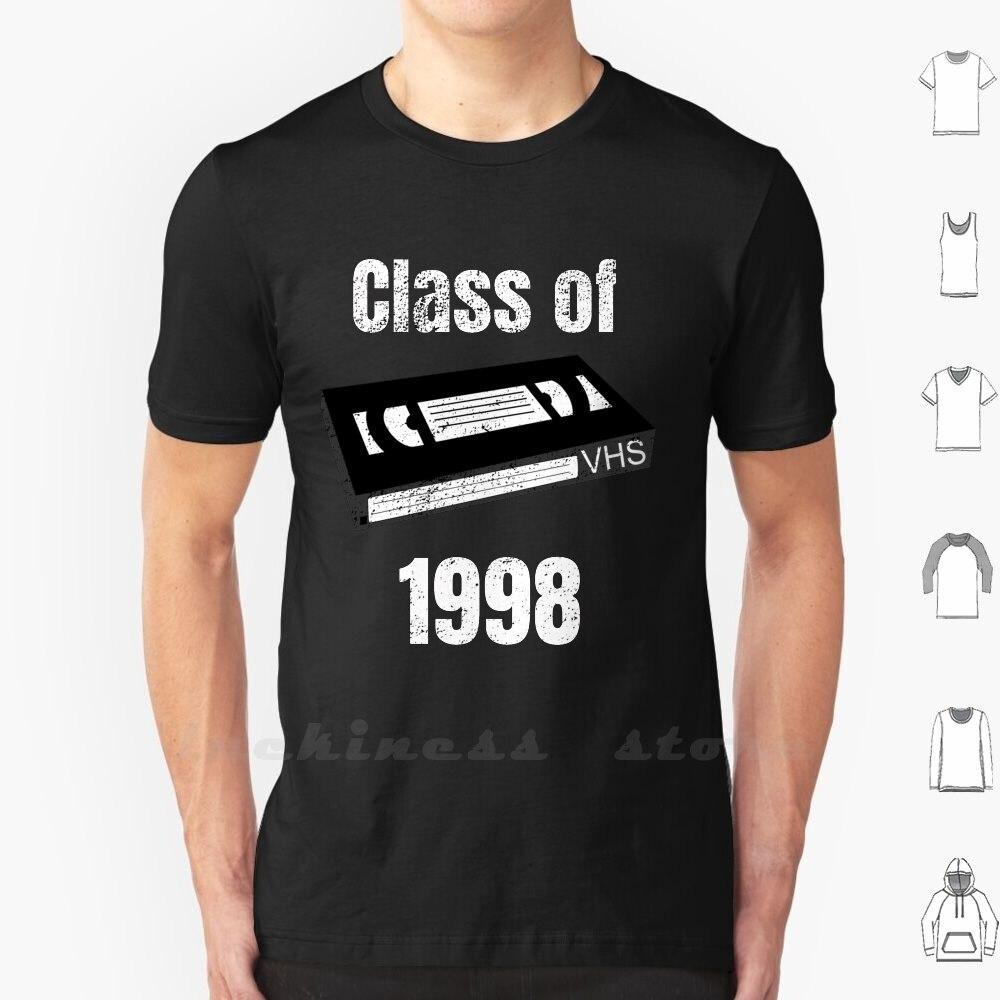 Reunião de classe De 1998 Vhs Fita Cassete Retro Arte Do Vintage Camiseta de Algodão 6Xl Classe De Classe De 1998 Vhs fita Cassete Retro