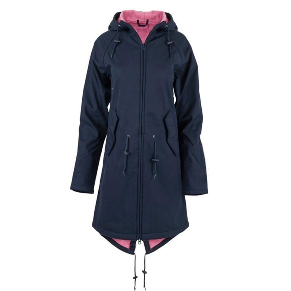 Nueva chaqueta de lluvia larga para mujer, sudadera Impermeable con capucha para exteriores, abrigo Impermeable, abrigo largo, chaquetas, sudadera de talla grande 5XL