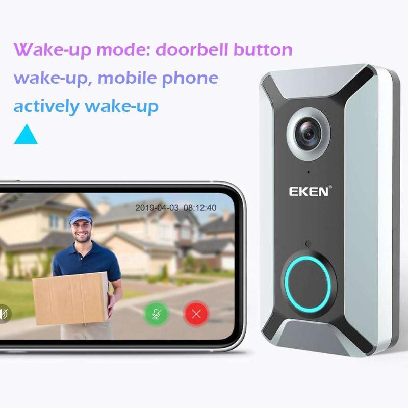 V6 Wifi Doorbell Smart Wireless 720P Video Intercom camera Cloud Storage Door bell Cam Waterproof Night Vision Home security enlarge