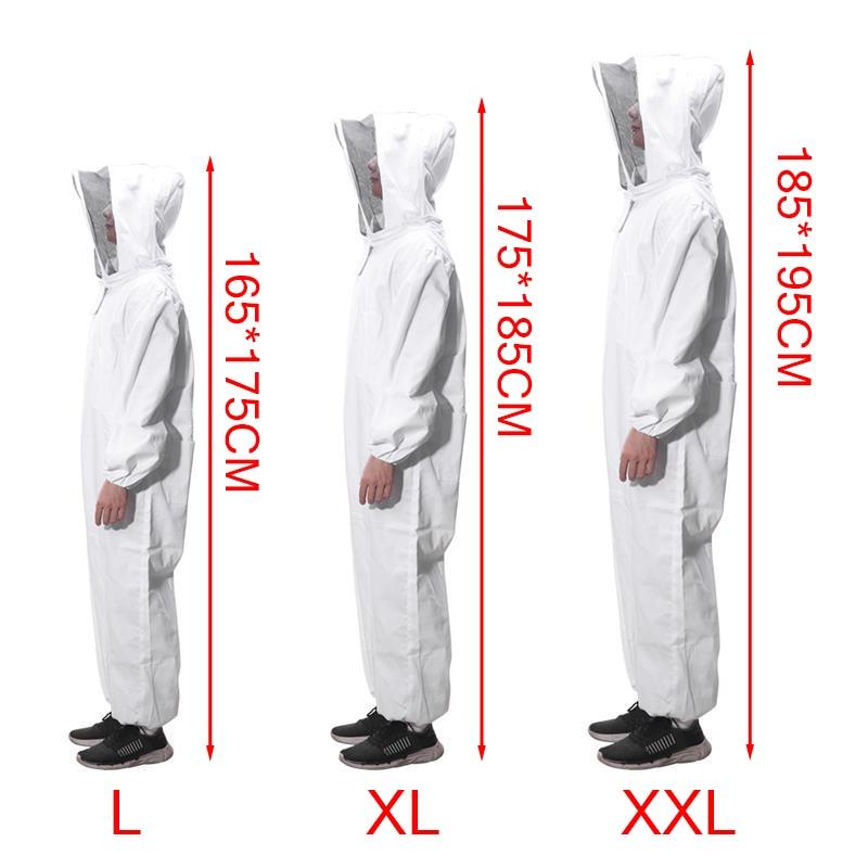 De algodón completo cuerpo ropa de apicultor velo capucha Anti-abeja abrigo ropa protectora especial apicultura traje de equipo