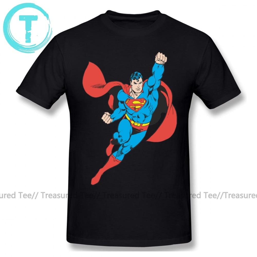Superman T Shirt Superman Right Fist Raised T-Shirt Graphic 100 Cotton Tee Shirt XXX Men Short Sleeve Classic Cute Tshirt