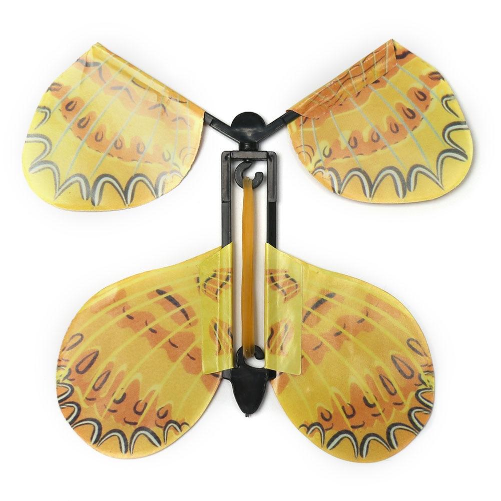 MARIPOSA MÁGICA mariposa voladora, accesorios mágicos divertidos de transformación manual, broma sorpresa, truco místico, juguetes-Colores aleatorios