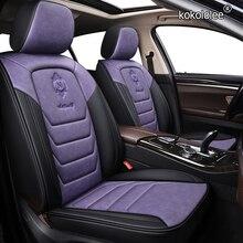 Kokolololee housse de siège de voiture en cuir pour lada 2114 granta xray vesta sw croix kalina kalina accessoires couvre pour sièges de véhicule