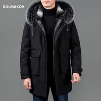 2021winter new arrival high quality hat detachable mens coat 90 white duck down jackets men casual jacket male size m 5xl