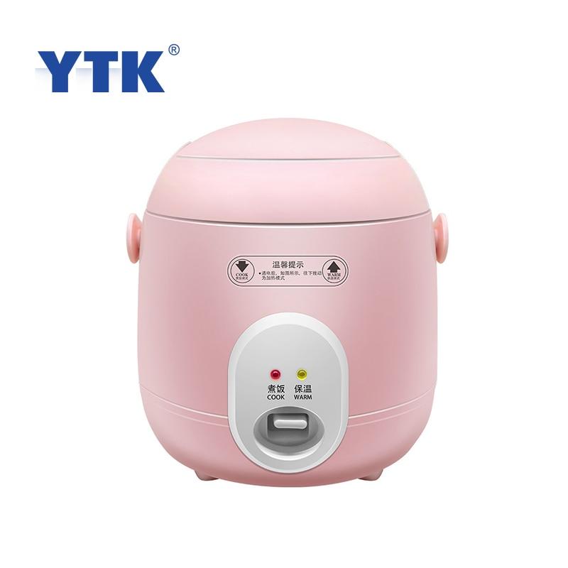 Mini arrocera de 1,2 L Multi-función para sopa, gachas, máquina de cocina, vaporizador de alimentos, caja de almuerzo eléctrica, calentador de comida