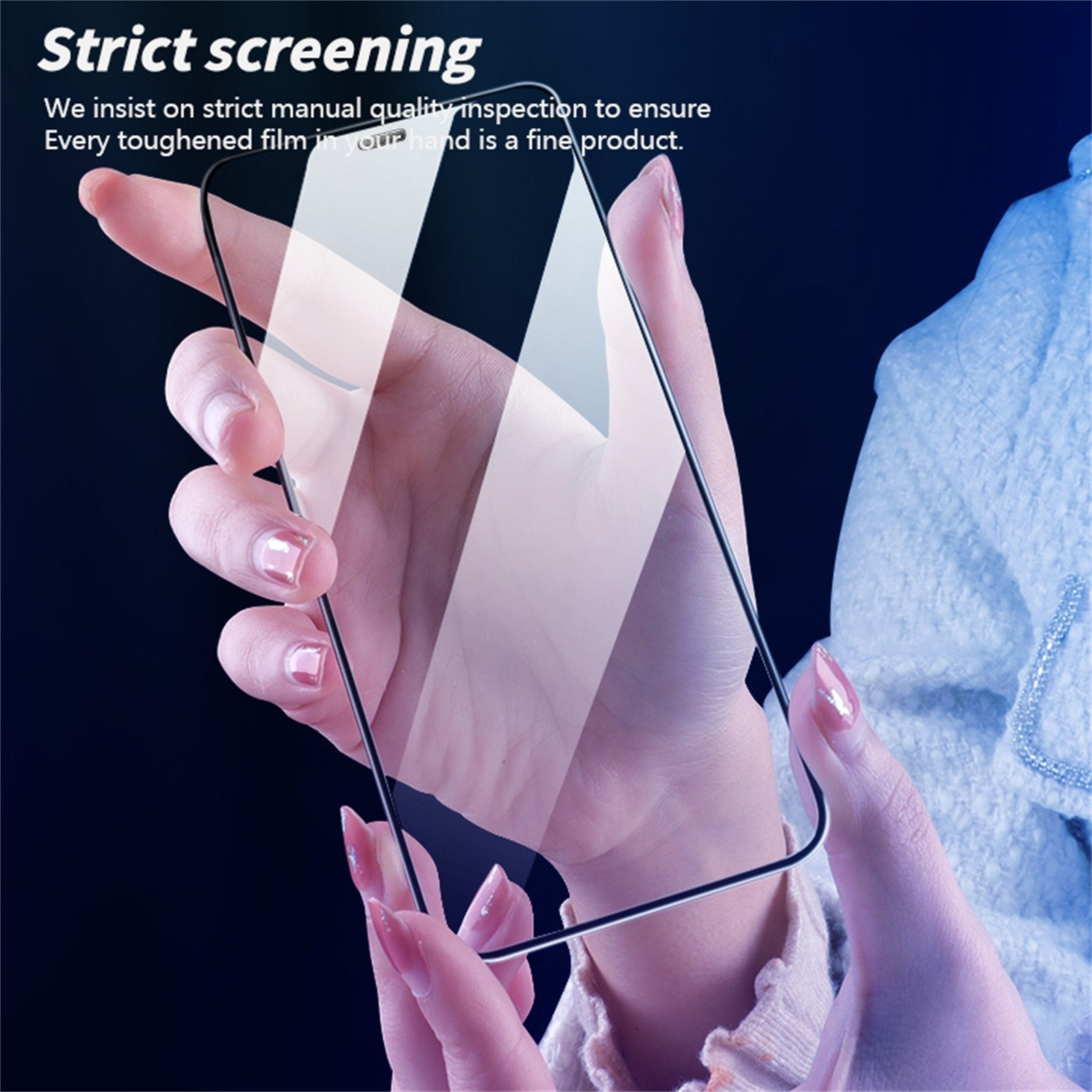 New Diamond Film Suitable For Iphone 12/samsung Galaxy S20 Fe 5g Dust-proof Mesh Screen Printing Hd Tempered Film Protective