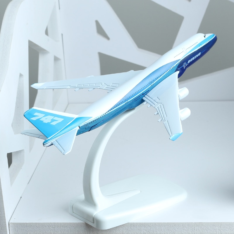 Prototipo de 16cm modelo de avión aerolíneas B747-400 modelo de aleación de aviación modelo Boeing 747-400 avión modelo de avión Stand Craft 1400