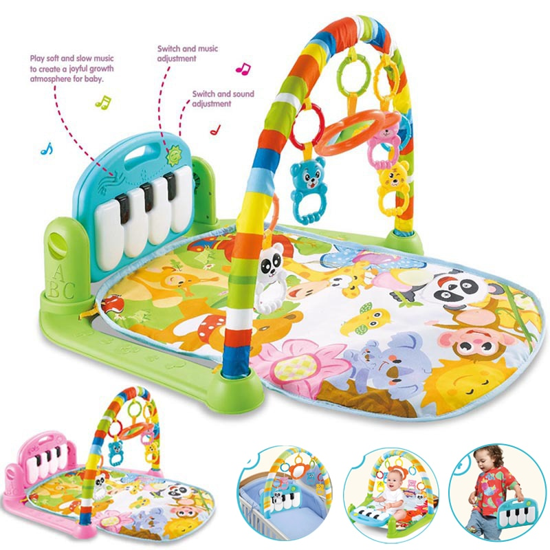 infant baby flying chess waterproof play mat early learning toy fitness bodybuilding frame crawling mat kick play lay sit toy Baby Play Music Mat Carpet Toys Kid Crawling Play Mat Game Develop Mat with Piano Keyboard Infant Rug Rack Toy christmas gifts
