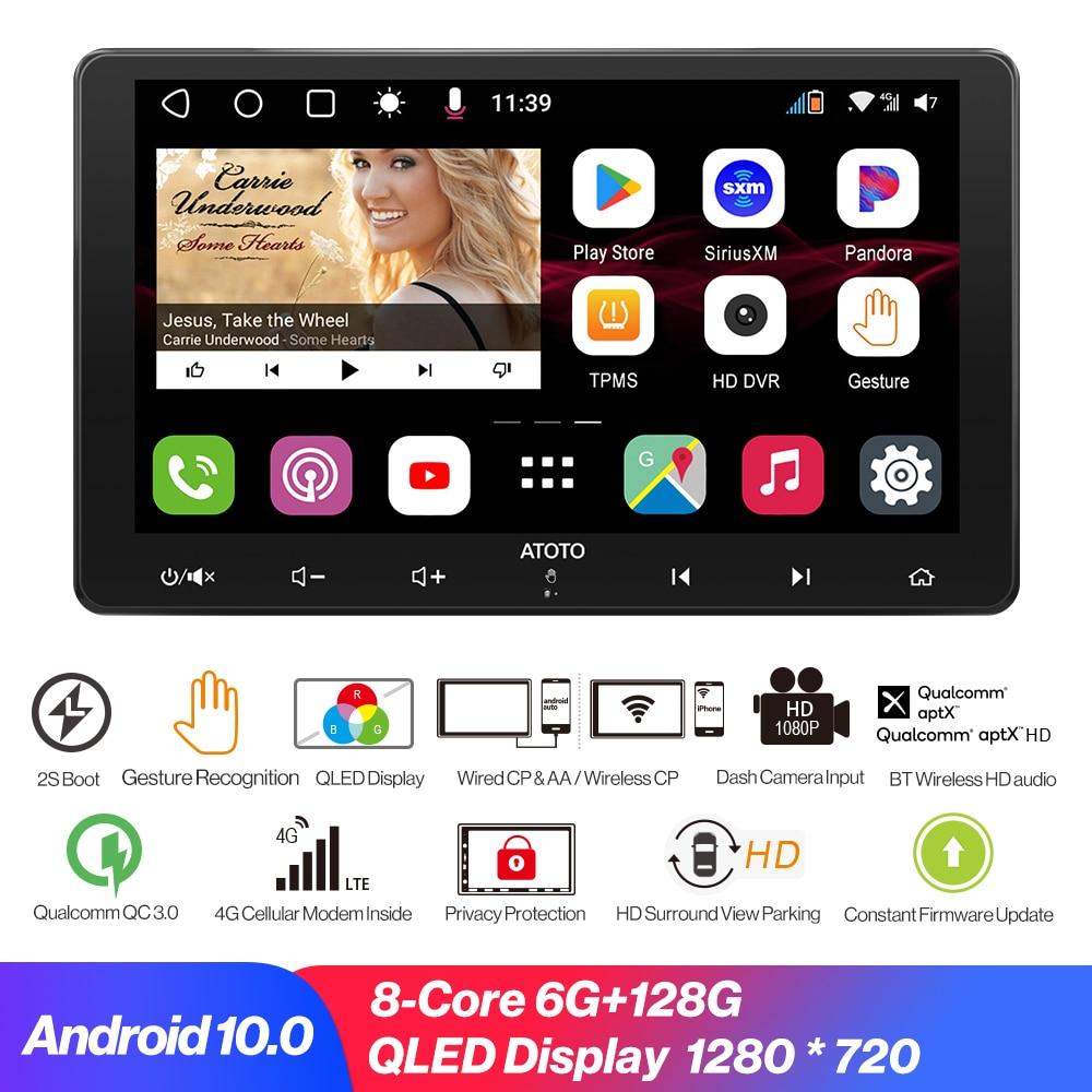 car radio Автомобильный плеер 2 Din 4G и WIFI Android 10.0 Автомобильное радио Bluetooth-совместимое Carplay GPS-навигация Мультимедийный видеоплеер в реальном вре...