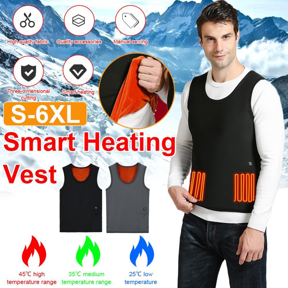 Adjustment  Smart Heating Vest Electric Winter Inner Fleece Soft Heated Vest Thermal Underwear Outdoor For Man Woman New Hot