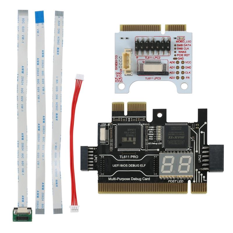Multifunction LPC-DEBUG Card PCI PCI-E LPC Motherboard Diagnostic Test LPC-Debug Post Card Diagnosti