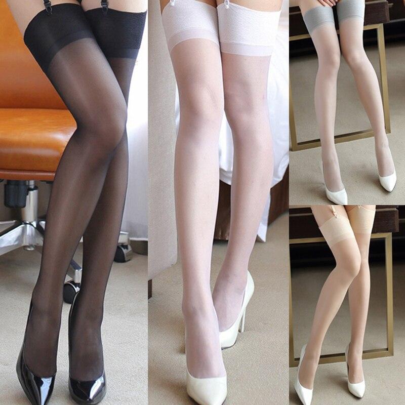 Meia feminina amassada meias altas, meia feminina sensual
