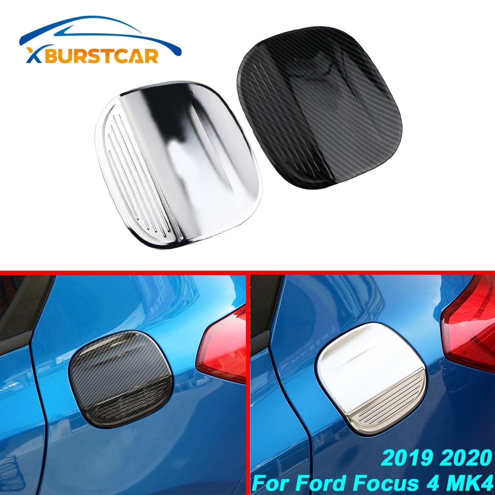 Xburstcar Car Styling ABS Car protección de tanque de combustible cubierta tanques cubre para Ford Focus 4 MK4 2019 2020 accesorios de decoración